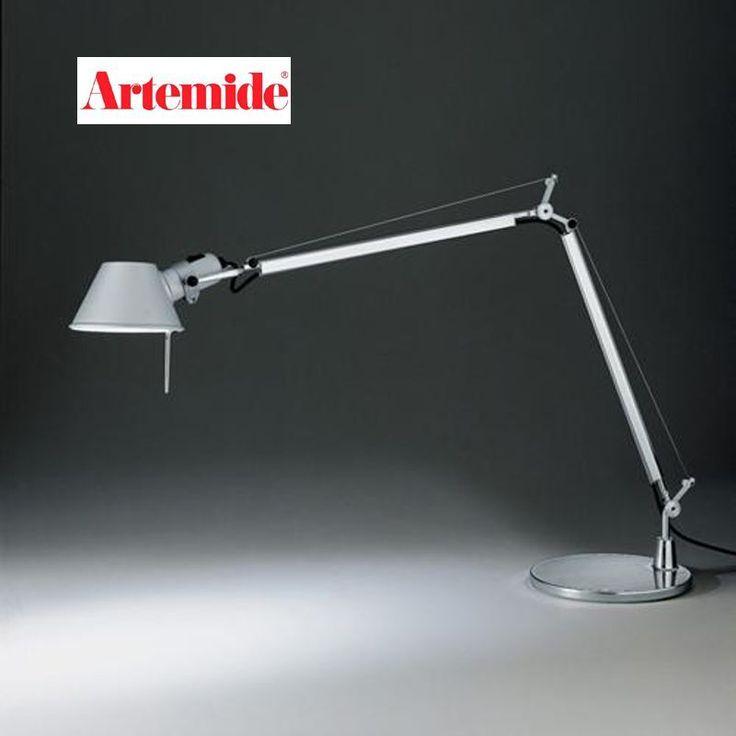ARTEMIDE LAMPADA TOLOMEO CLASSICA COLORE ALLUMINIO LAMPADINA OSRAM FORNITA E27 #Artemide #Tolomeo #desk #light