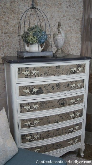16 Creative Ways to Decoupage Furniture | Girl in the Garage