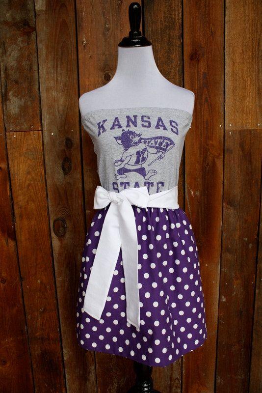 Kansas State KSU Wildcats Game Day Dress  Size by jillbenimble, $52.00