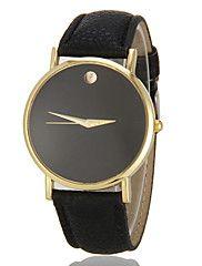 Mujer+Reloj+de+Moda+Cuarzo+La+imitación+de+diamante+PU+Banda+Negro+Blanco+Marrón+Negro+Marrón+Oro/Blanco+Oro-Negro+Marrón-Oro+–+EUR+€+9.59