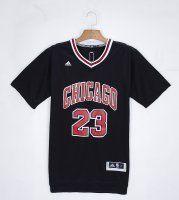 NBA Chicago Bulls 23 Micheal Jordan Black T shirt