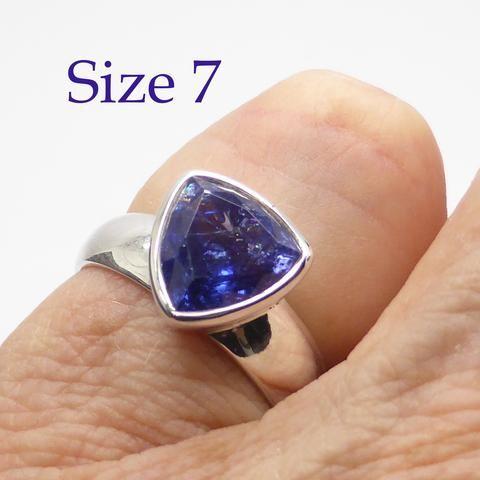 Tanzanite Ring Trillium Cut | Genuine Stone | 925 Sterling Silver | Size 7 | Spiritual Superlative | Authentic stone from Tanzania | Mt Kilimanjaro | Crystal Heart Melbourne Australia since 1986