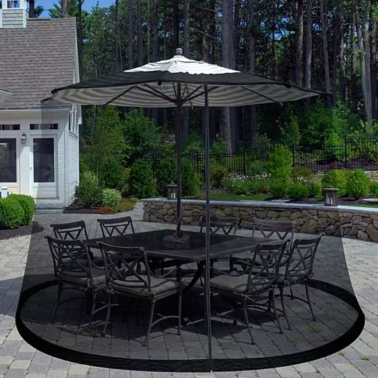 Purchase Pure Garden Outdoor Umbrella Screen   Black From Destination Home  On OpenSky.