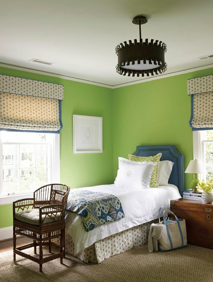 Green Bedroom By Lindsey Coral Harper Interiors