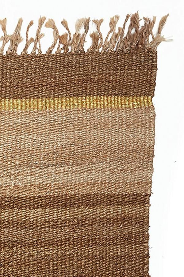 Jute and Gold Striped Rug