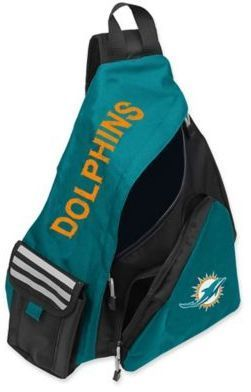 NFL Miami Dolphins Leadoff Sling Backpack https://www.fanprint.com/licenses/miami-dolphins?ref=5750
