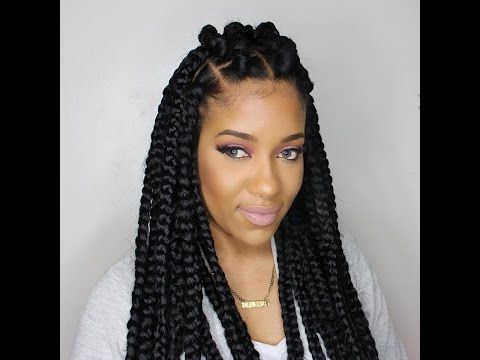 HOW TO: JUMBO BOX BRAIDS (RUBBERBAND METHOD) - https://www.avon.com/category/bath-body/hair-care?repid=16581277 Shop Hair Care Products  WELCOME EVERYONE!!!!!!!!!!!!!!! 12 PACKS OF HAIR 24 BRAIDS HAIR USED:KANEKALON BRAIDING HAIR INSTAGRAM: _TOYALOVELY SC:TOYALOVELY93 BUSINESSINQUIRIES: TOYALOVELY93@GMAIL.COM Video Rating:  / 5   http://47beauty.com/hair-tutorials/how-to-jumbo-box-braids-rubberband-method/