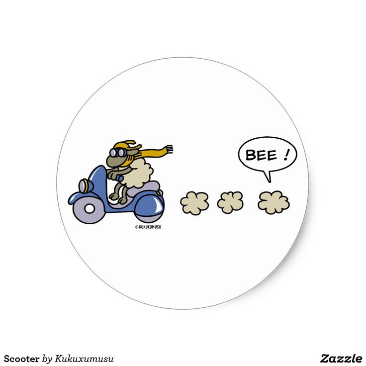 Scooter. Regalos, Gifts. #sticker