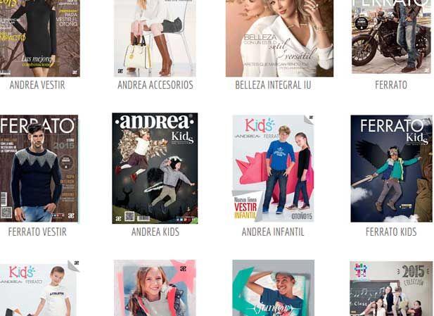 Catalogos digitales ANDREA todas las colecciones