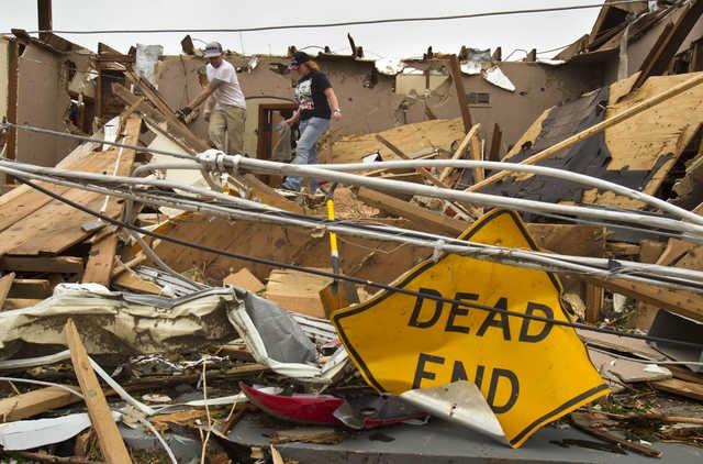 Ironic sign.  catastrophic EF5 multiple-vortex tornado ~  Joplin, Missouri  May 2011