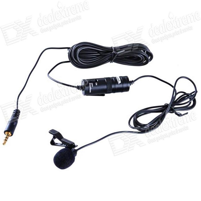 BY-M1 Collar Clip Condenser Microphone - Black