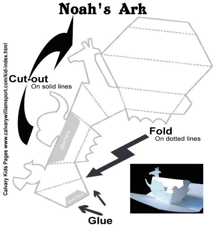 Noah's Ark - 3D Paper Craft