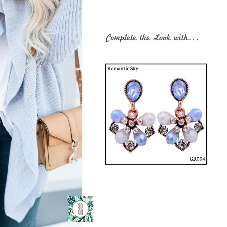 Ref: GR004 Romantic Sky Medidas: 2.9 cm x 1.8 cm So Oh: 5.99  #sooh_store #onlinestore #brincos #earrings #fashion #shoponline #inspiration #styleinspiration #aw2016 #aw1617 #winter #style