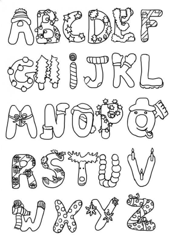 letras abecedario navidad - Buscar con Google                                                                                                                                                                                 Más