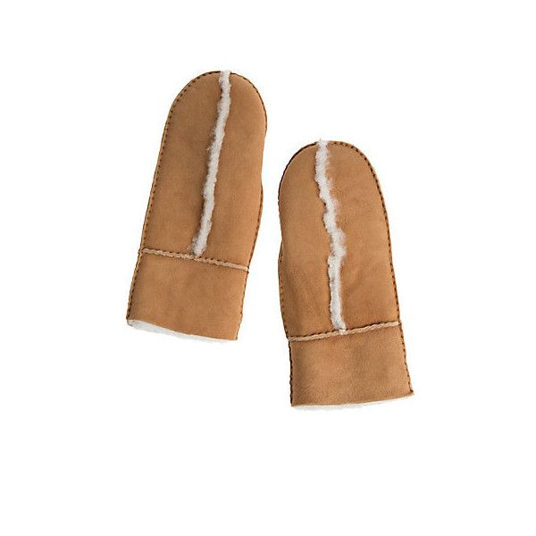 Women's Spanish Merino Sheepskin Mittens (4.595 RUB) ❤ liked on Polyvore featuring accessories, gloves, merino wool gloves, sheepskin gloves, mitten gloves and sheepskin mittens