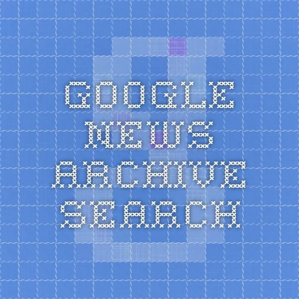 Google News Archive Search