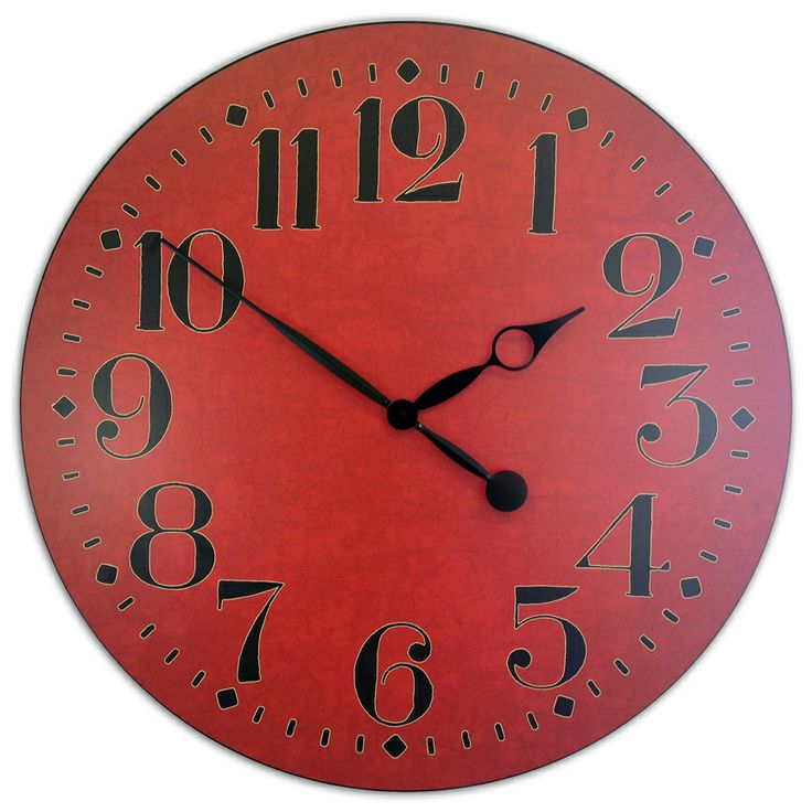 Large Red Wall clock available in 7