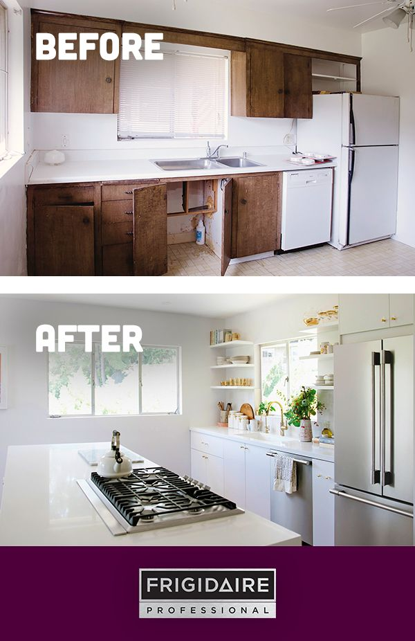 @kitchykitchen's renovation is finally complete! Take a look at her exciting kitchen reveal featuring appliances from our Frigidaire Professional collection. Click to see more from her renovation.