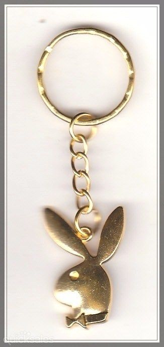 Playboy Bunny Charm Gold Plated Keyring  by MadAboutIncense - $6.50