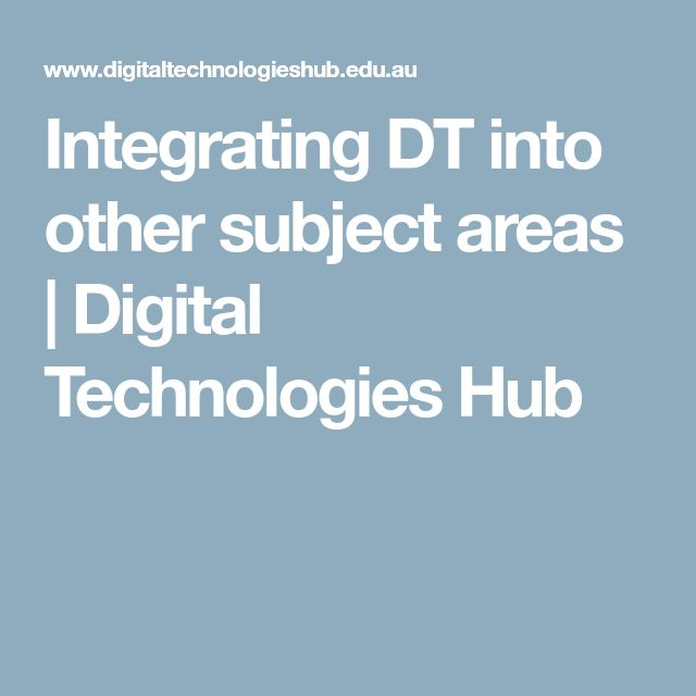 Integrating DT into other subject areas | Digital Technologies Hub