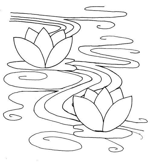 sashiko-pattern-waterlily   Nature. Flowers   Pinterest