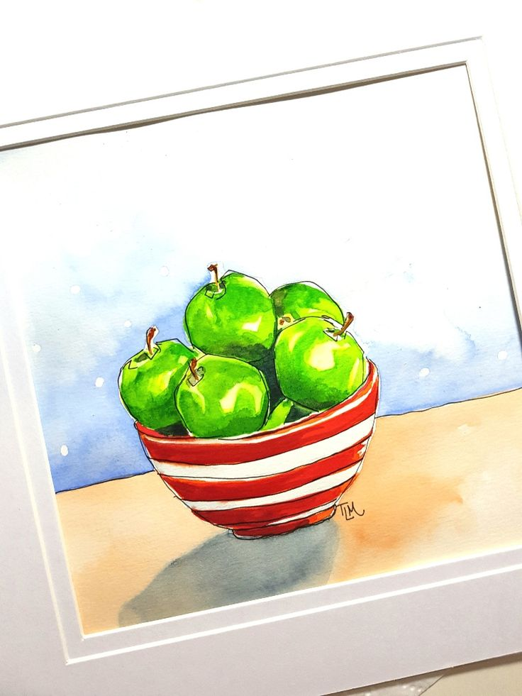 Apples for Days-watercolor