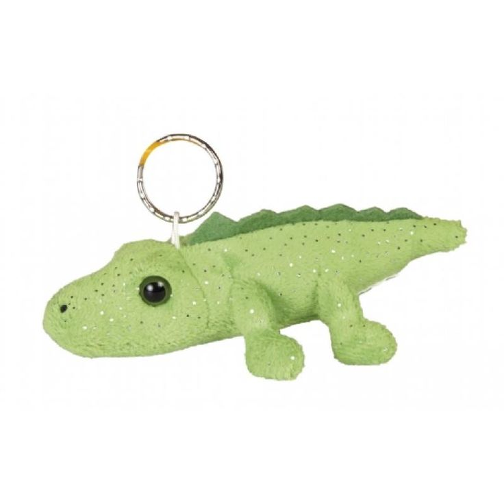Image of Printed Crocodile Keyring. Branded Large Soft Crocodile.