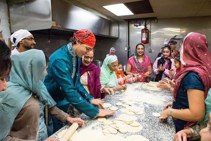 The Prime Minister of Canada Justin Trudeau making rotis on Diwali.    http://desi-stylebook.com/2015/11/diwali-around-the-world/
