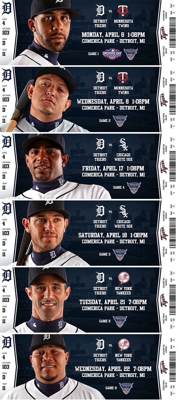 Ticket design for 2015 season ticket holders of the Detroit Tigers.