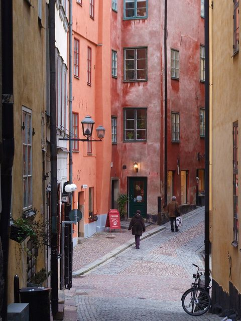 Sweden more colours of gamla stan stockholm by agnieszka piatkowska via flickr
