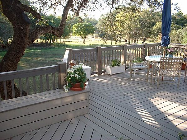 use composite decking for porch floor WPC Wood Plastic Floor