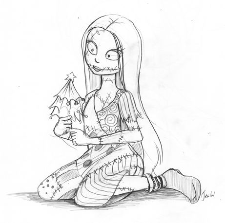 sally nightmare before christmas colouring pages - Google Search