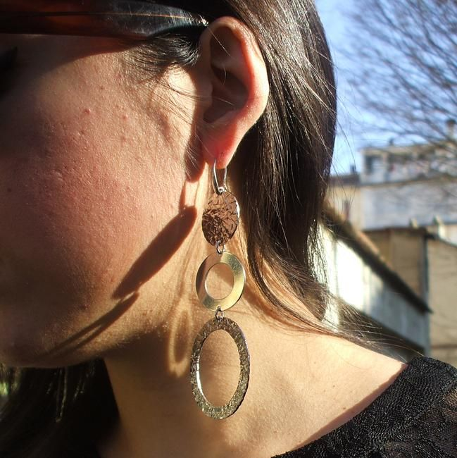 Elegant steel earrings | Desirèe D'Aloia | TheFashionPrincessBlog