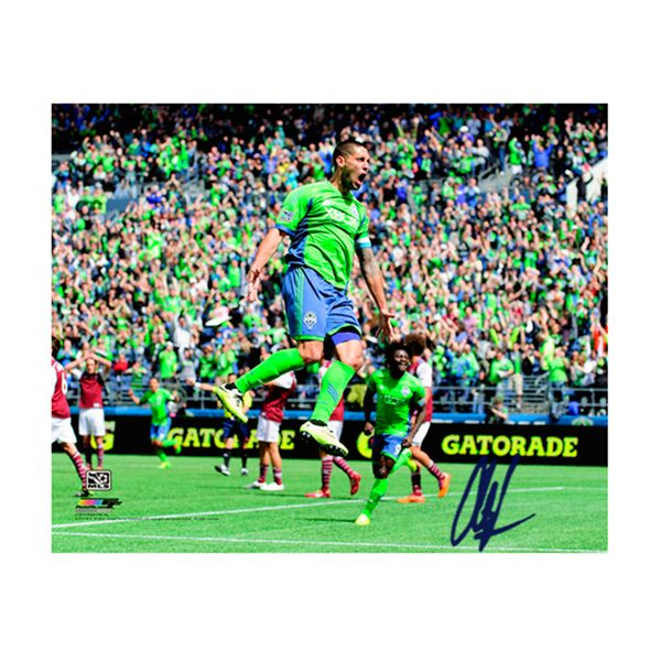 Steiner Sports Clint Dempsey Signed Seattle Sounders Celebration 8x10 Photo