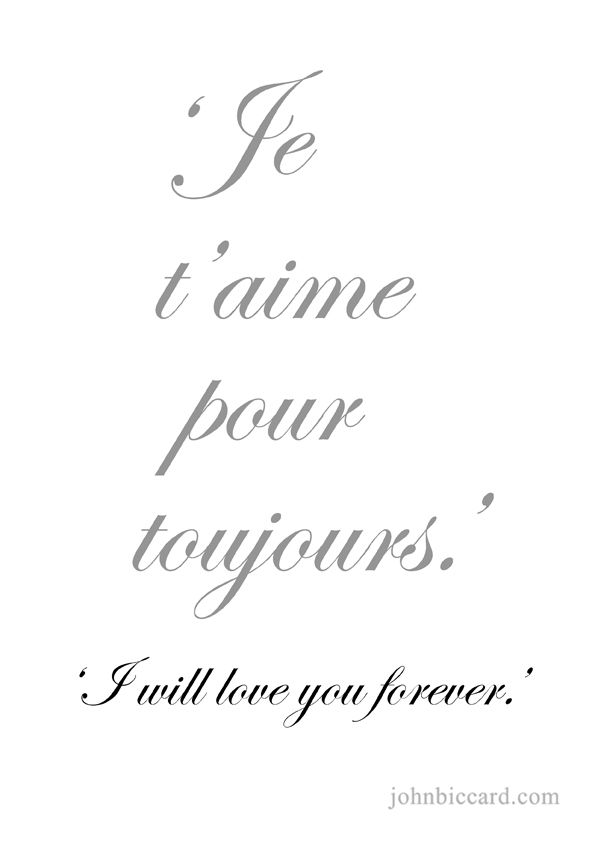 ♔ 'I will love you forever.'