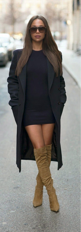 Fall Combo With Dark Blue & Mustard / LoLus Best Street Fashion