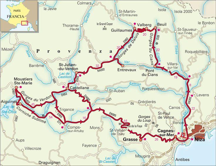 Ruta de Niza a Saint-Paul