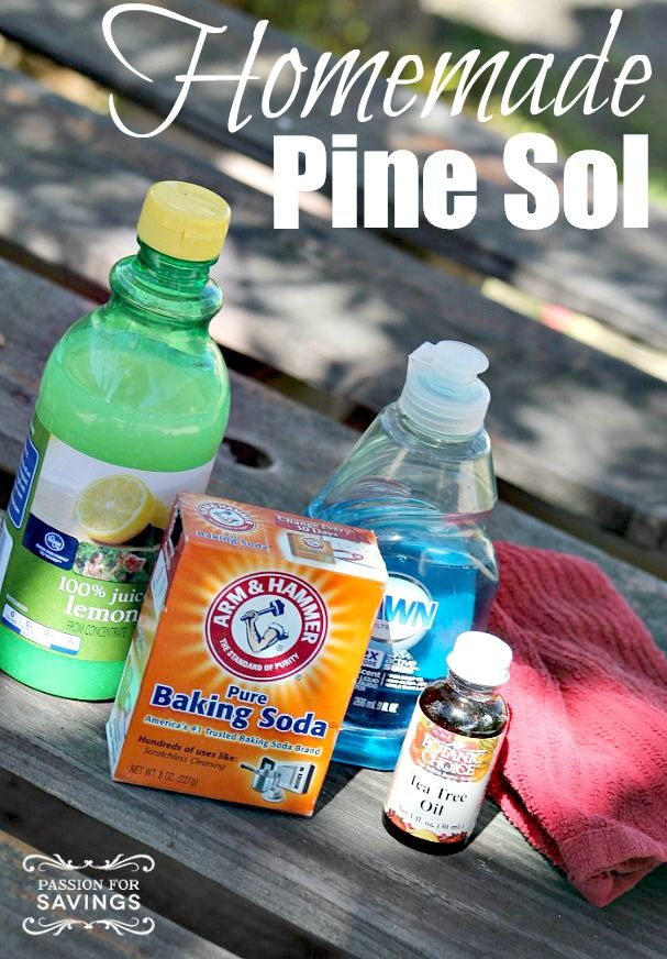Find out how to Make Your Own Pine Sol without the chemicals or harsh smell!