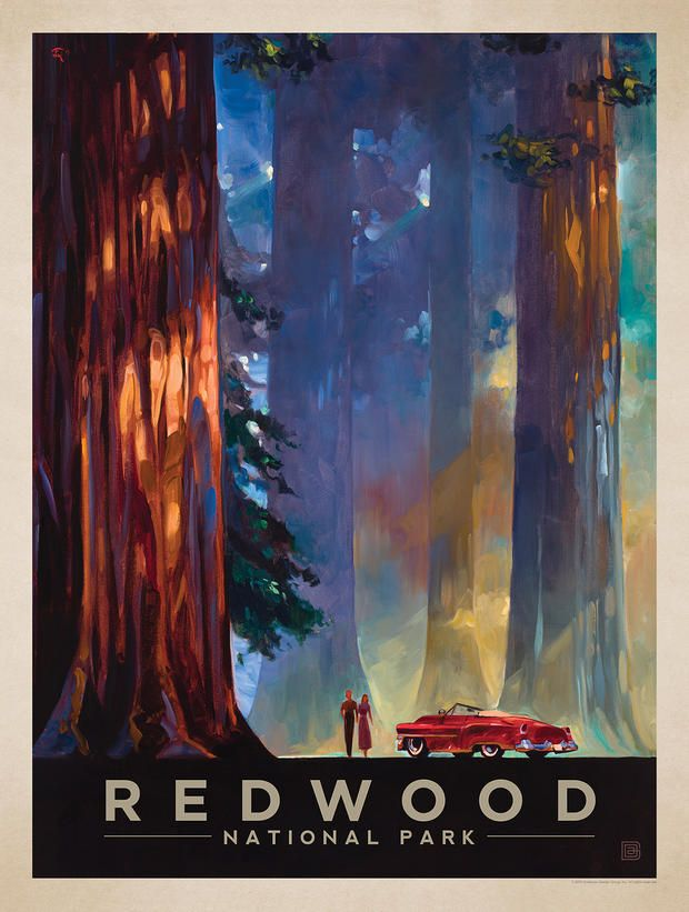 Experience the Beauty of the National Parks With These Retro Style Posters | Mental Floss