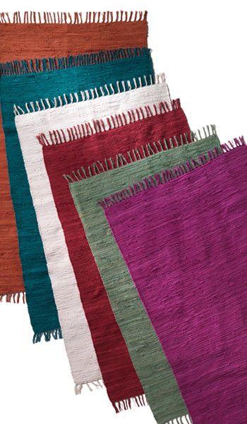 100% cotton chindi rug, 90 x 150cm