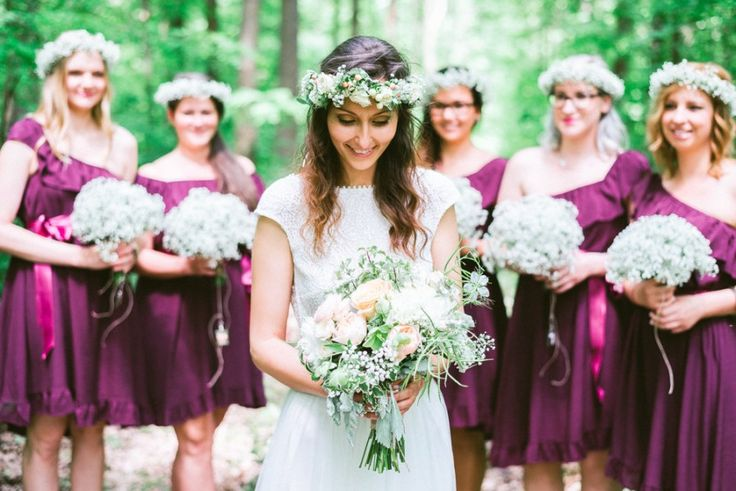 Daalarna birde with her bridesmaids (Photo: Beloved - Dósa Győző)