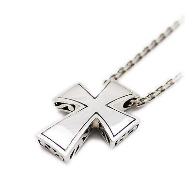MEDIEVAL CROSS 925 STERLING SILVER PENDANT