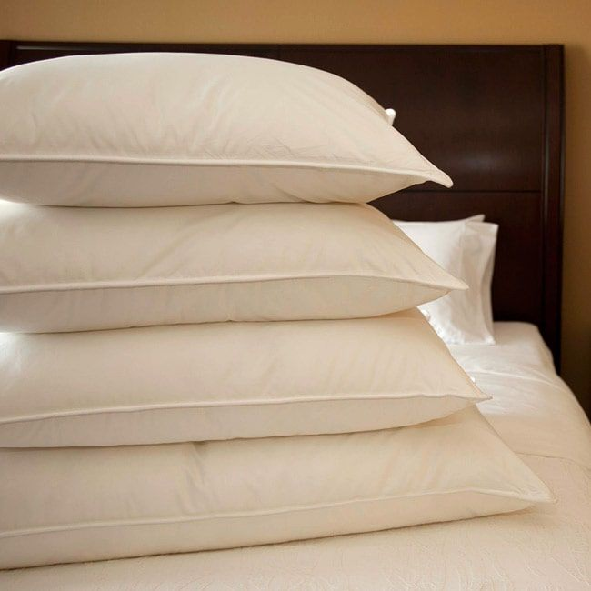 Extra-firm Cambric Cotton 600 Fill Power Goose Down Pillow King Size