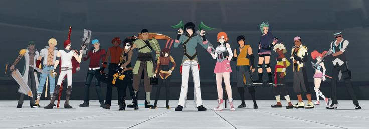 #RWBY, Team SSSN (Sage Ayana, Sun Wukong, Sacrlet David, Neptune Vasilias) Team CFVY (Coco Adele, Fox Alistair, Velvet Scarlatina, Yatsuhashi Daichi) Team JNPR (Nora Valkyrie and Lie Ren) Team ABRN (Arslan Atlan, Bolin Hori, Reese Chloris, Nadir Shiko) Team FNKI (Neon Katt and Flynn coal) Season 3 Chapter 10: Battle of Beacon