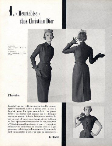 1950 - Christian Dior  ''Heurtebise''ensemble by Tabard  with <3 from JDzigner www.jdzigner.com
