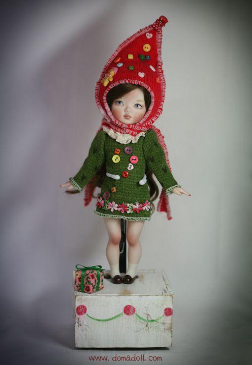 OOAK Winter Girl Ha JJU Domadoll's Porcelain Doll | eBay