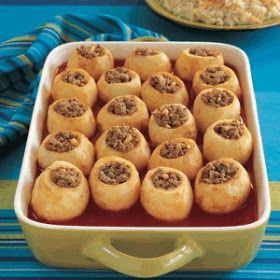 Arabic Food Recipes: Stuffed Potato with Tomato Sauce
