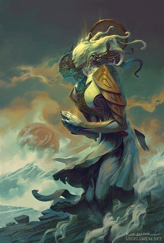 Giant monster alien thing goddess