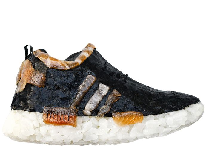 ADIDAS 'Nori' NMD  HUM PRESENTS 'SUSHI SNEAKERS' BY YUJIA HU.  Available to purchase for a limited time at www.humlikes.com
