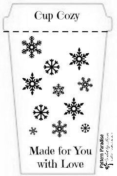 Printable Holiday Cup Cozy Template Pattern Paradise